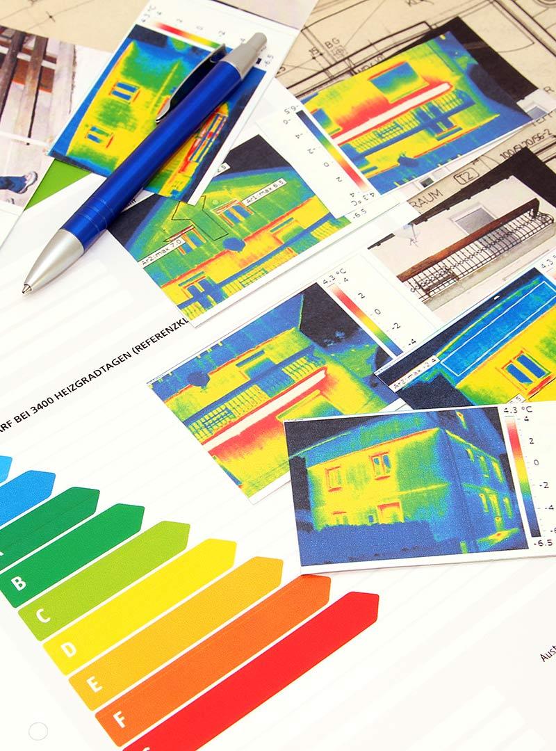 Beispiel Bauphysik Wärmebilder und Energiebilanz